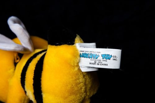 "HONEY BUMBLE BEE Liberty Toy Co. 1994 Cherrios Honey Bee 13"" Preowned"