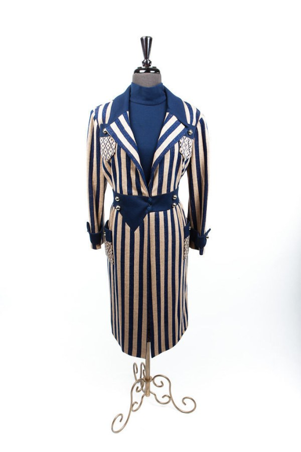 Vintage Saks Fifth Avenue 2 Piece Fully Lined Coat & Dress 1970's  Fine Quality