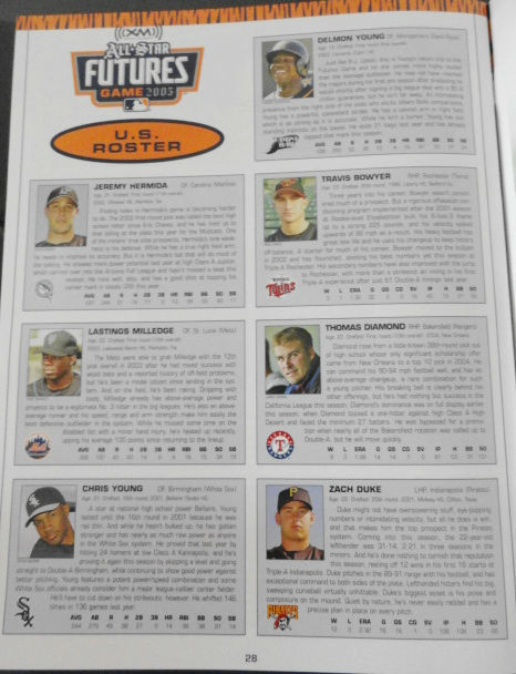 All Star Futures MLB Game Program 2005 Comerica Park Detroit Mint July 10