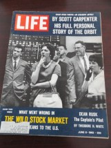 Vintage Life Magazine June 8, 1962 Stock Market Scott Carpenter On Cover