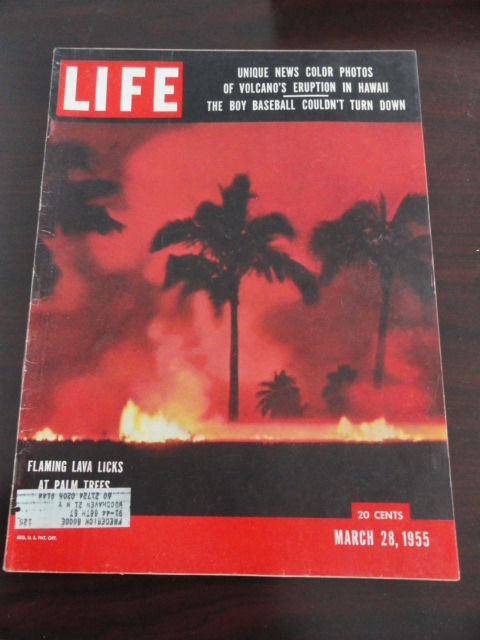 Vintage Life Magazine March 28, 1955 Volcano On Cover Excellent Cond
