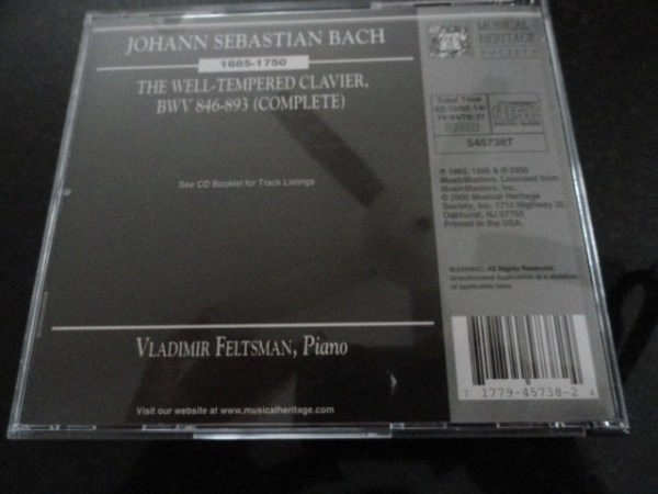 Vtg Musical Heritage Society Classical Bach The Well-Tempered Clavier 4 CD's