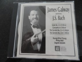 Vintage Musical Heritage Society Classical James Galway Performs J.S. Bach CD