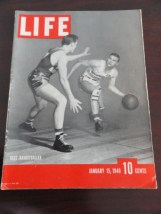 Vintage Life Magazine January 15, 1940 Best Basketballer On Cover Excellent Cond