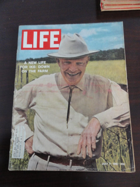 Vintage Life Magazine July 7, 1961 IKE Down on the Farm On Cover Excellent Cond