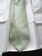 Vintage Men's Zylos Gold Tie Lime Green 100% Imported Silk Made In USA NWOT
