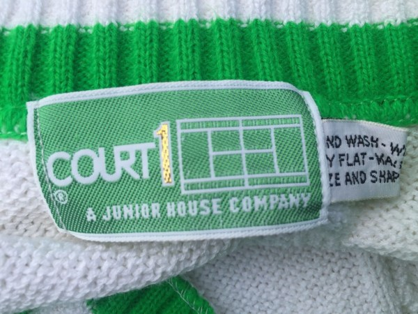 Vintage 1960's COURT 1 Cable Knit Tennis Dress Belt A JUNIOR HOUSE COMPANY NWOT