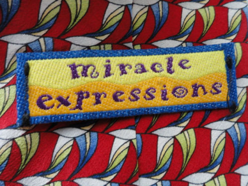 Vintage Men's Miracle Expressions By STONEHEDGE Abstract Tie 100% Silk AZT