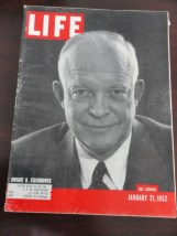 Vintage Life Magazine January 21, 1952 Dwight D. Eisenhower On Cover