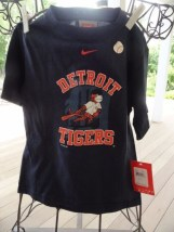 Detroit Tigers MLB Nike Team Official Short Sleeve Shirt Size 4  MLBP 2009 NWT