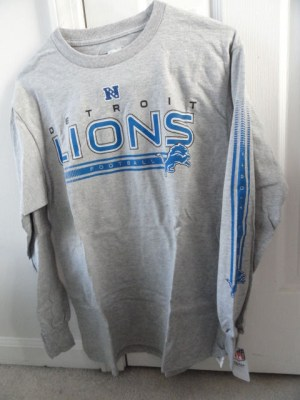 Detroit Lions Football NFL TEAM APPAREL Long Sleeve Shirt Medium NWT