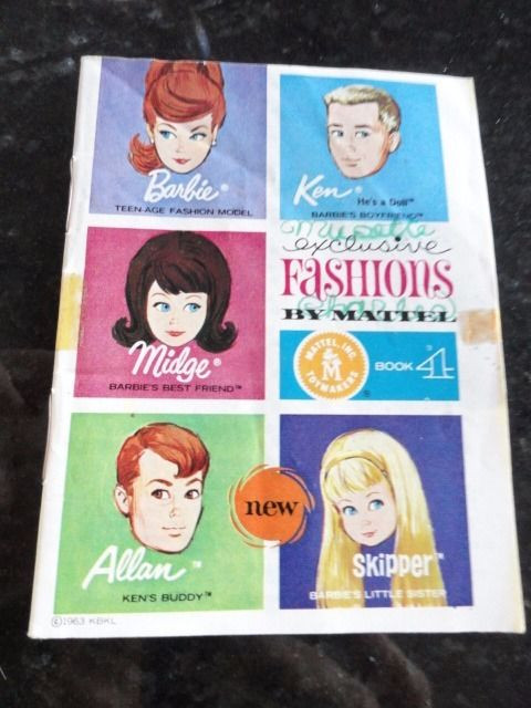 Vtg 1963 KBKL Barbie Mattel Exclusive Fashions Book 4 Pages 32 Good Condition