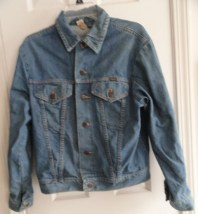 Vintage 1970's Men's Wrangler Jean Denim Jacket Orange Stitch RANGE Buttons