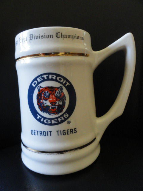 Detroit Tigers 1984 East Division Champions Tankard Mug Sold By Hudsons Roster