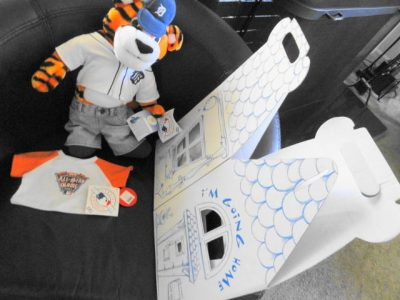 Detroit Tigers MLB Paws Build A Bear All Star Game Comerica Park 2005 Shirt Box