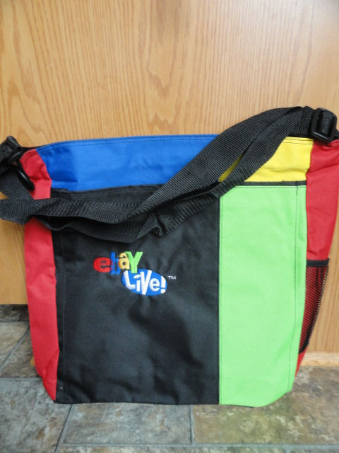 EBAY LIVE 2008 Chicago New Power Seller Tote Tote 15x16.5x3.5 Red Side Pocket