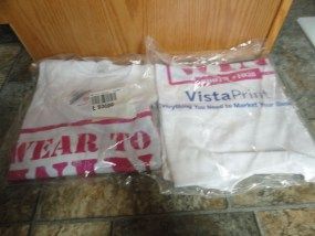 EBAY LIVE 2008 Chicago New Vistaprint T-shirt WEAR TO WIN Extra Large Cotton NIB
