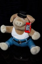 Boss Hog GANZ 1996 Motorcycle Biker Stuffed Animal H 1867 New With Tag Belt Hat