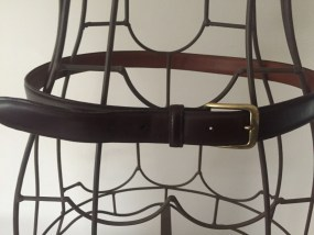 Brown Polo Ralph Lauren Male Belt USA Solid Brass Buckle