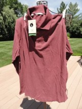 Men's CUTTER & BUCK Burgundy Long Sleeve Shirt L Style MCKO 1106 Cotton NWT