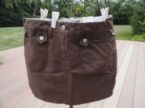 Women's Old Navy Brown Ultra Low Waist Size 1 Brown Skirt 100% Cotton NWT
