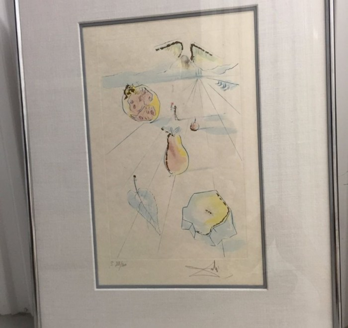 """S. Dali '71 """"The Fruits Of The Valley"""" Song of Songs of Solomon Suite COA"""