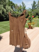 Vtg 1960's Tennis Dress Panties Riha Santa Barbara Brown Cotton 13/14 Ex Cond