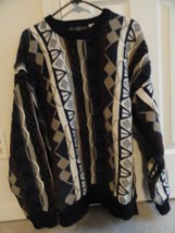 Men's Cape Isle Knitters Sweater XL 100% Cotton Geometric Pattern Preowned