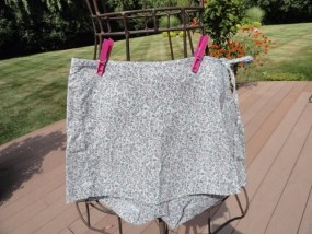Women's Uncivilized Wrap Around Floral Skirt Skort With Ties Size 1 Pink Purple