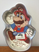 1989 Wilton Mario Cake Pan #2105-2989 Great Condition Torn Instructions
