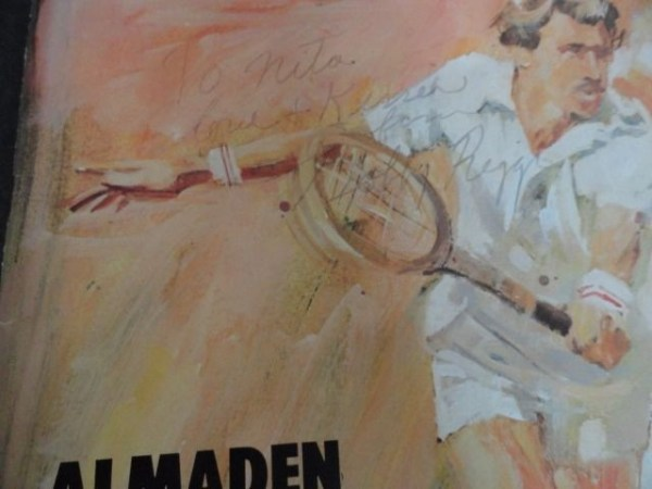 Vintage '75 Bobby Riggs Signed ALAMADEN GRAND MASTERS' TENNIS PROGRAM Detroit MI