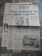 Vtg Original TODAY Florida's Space Age Newspaper January 27 1967 Apollo 1 Fire