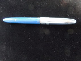 Vintage Wearever Sky Blue Fountain Pen Signature 4 Made In USA Used