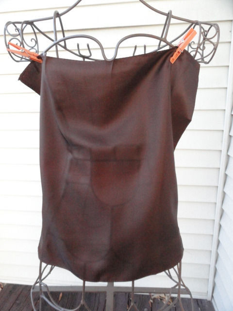 Vintage 1960's Brown 100% Acetate Twill Pocket Square Scarf NWOT RN 24784