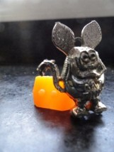 Vintage 1960's Goldfinker Rat Fink Ring Two Holes Orange Ring Mint Cond