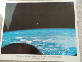 THE MOON AS SEEN FROM THE GEMINI VII SPACECRAFT DECEMEBER 8 1965 Photo 8 x 10