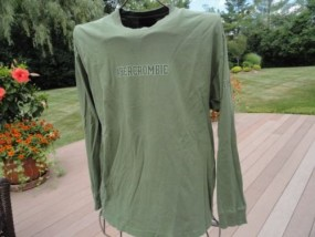 Men's Abercrombie & Fitch Reliable Outdoor Goods Green Long Sleeve Shirt L