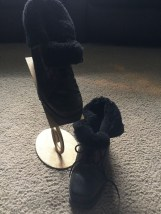 "Women's Talbots Black Leather Suede Ankle Boots Size 6.5 M Heel 1.5"" Canada"