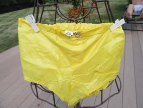 Vtg 60's International Male HOT Yellow Swim Trunks Suit Size 32 Shorts Great Con