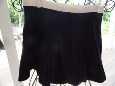 Women Black White ENERGIE Tennis Skirt Small Flaire Preowned Ex Cond