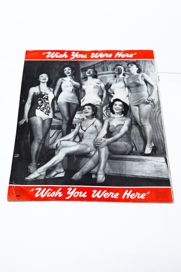 "Vintage 1950's ""Wish You Were Here"" Program JOSH Logan Sheila Bond Jack Cassidy"