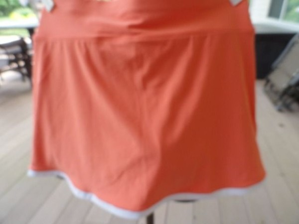 Women NIKE DRI-FIT Tennis Skirt Skort XS Peach White NWOT