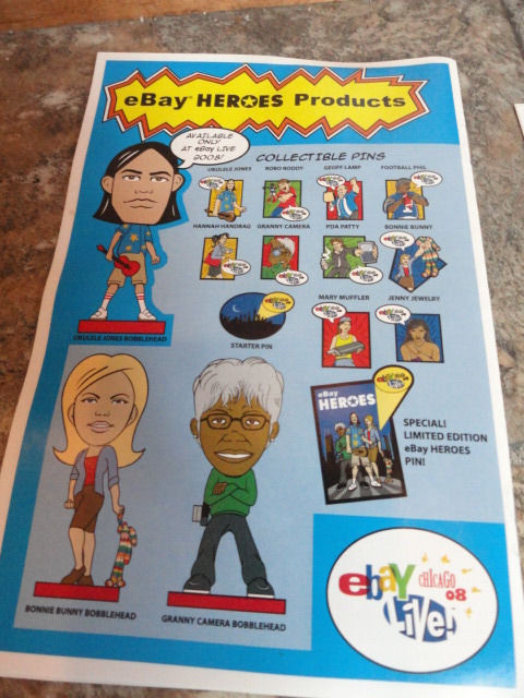 EBAY LIVE 2008 Chicago New Ebay HEROS Special Collectors Issue