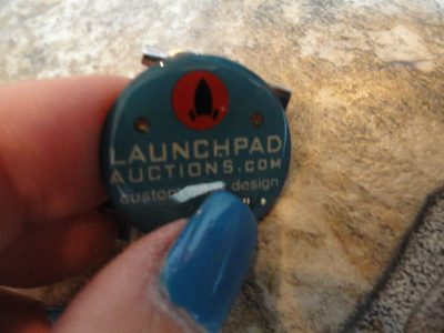EBAY LIVE 2008 Chicago New LAUNCH PAD Auctions Pin Custom Ebay Design Pin