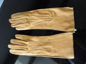 Vintage Ladies Dark Beige Deerskin Leather Gloves 5.5 NWOT USA