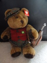 "BEARLAND 14"" Golf Bear Golf Bag & Clubs Plaid Caddie Cap Vest Plaid Knickers NWT"