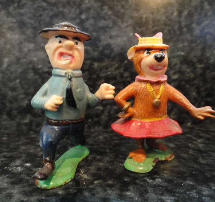 Vtg Disneykins 1960's Ranger Smith Cindy Bear Marx Toys Hana Barbara 1 1/2""