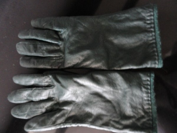 Vintage Ladies Grandoe Hunter Green Leather Gloves 7.5 Philippines Preowned