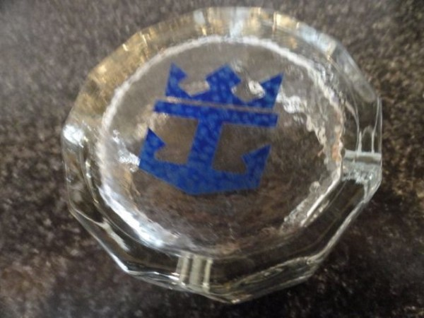 Vintage 1974 Song Of Norway Cruise Ship Glass Ashtray Royal Caribbean Cruise