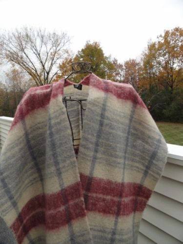 Vtg 1970's The Specialty House Poncho Warp Serape Grey Blue Maroon Acrylic Japan